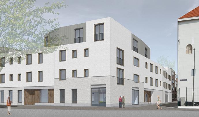 Het ontwikkelen van 25 woon-zorgappartementen in Schiedam